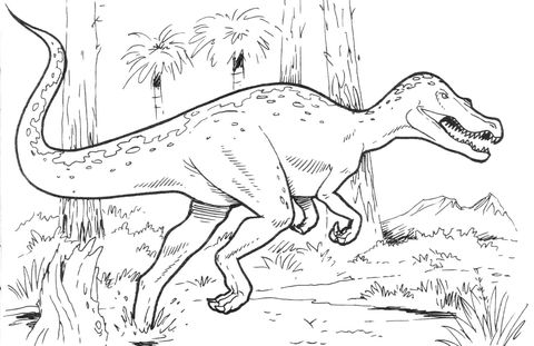 Baryonyx Dinosaur coloring page from Saurischian Dinosaurs category. Select from… Wallpaper