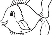 Cartoon Fish Coloring Page #1