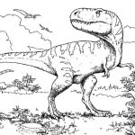 Coloring Pages Animal Dinosaurs Tyrannosaurus Rex Printable Free For Preschool #...