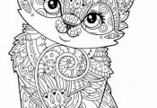 Cute kitten coloring page More⭕️✖️More Pins Like This One At #FOSTERGING...