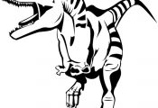 Dinosaur coloring pages for when we read Dinosaurs Before Dark.
