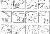 Dinosaurs Head Coloring Pages