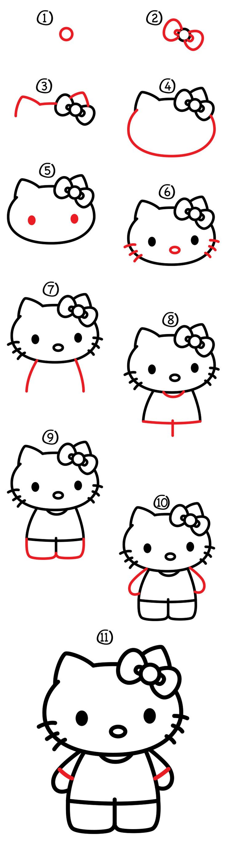 Follow-along-with-us-and-learn-how-to-draw-Hello-Kitty.-Also-be-sure-to-visit-th Follow along with us and learn how to draw Hello Kitty. Also be sure to visit th... Hello Kitty