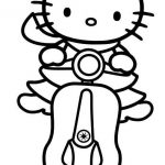 Free, printable Hello Kitty coloring pages, party invitations, activity sheets a...