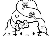 Happy Holidays Coloring Pages | Here are more Happy Holidays Hello Kitty colorin...