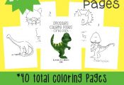 Kids love Dinosaurs & they will enjoy these fun Dinosaur coloring pages & Emerge...