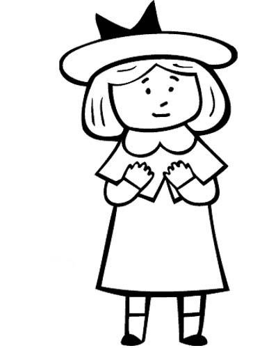 Madeline Cartoon Coloring Page Wallpaper