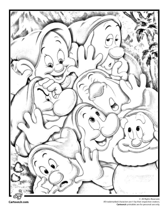 Snow-White-Coloring-Pages-and-Printables-Seven-Dwarfs-Coloring-Page-–-Cartoon Snow White Coloring Pages and Printables Seven Dwarfs Coloring Page – Cartoon ... Cartoon