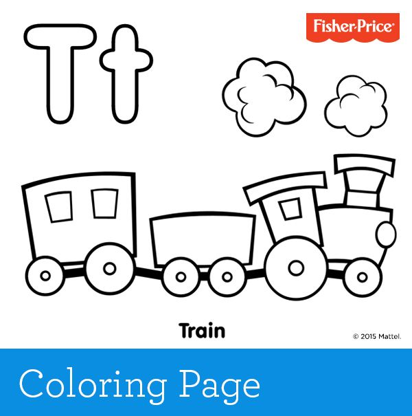 'T' is for train! Toot-toot and choo-choo. Train play is so much fun and ins… Wallpaper