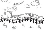 Worksheets: Choo-Choo Train Coloring Page