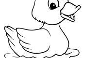 colours drawing wallpaper: Cute Duck Drawing Cartoon HD Wallpaper
