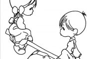 nice Friend Tattoos - Boy And Girl Precious Moments Coloring Pages - Precious Mo...