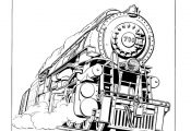 train and railroad coloring pages