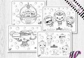 4 Coloring Pages - Octonauts Birthday Party Activity - ONG-03 by aSugarWonderlan...