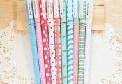 5 pcs/lot Kawaii Cartoon Colorful Gel Pen Set Cute Korean Stationery Pens For Wr...