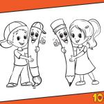 7 Back to School Coloring Pages