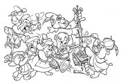 All Gummi bears cartoon coloring pages for kids, printable free