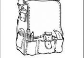 Back Pack Pattern -Back to School Theme Unit - Worksheets and Printables page 1 ...