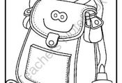 Back To School Coloring Page FREEBIE from Innovative Teacher on TeachersNotebook...