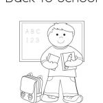Back to School Coloring Page from TwistyNoodle.com