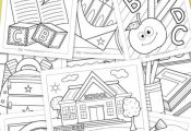 Back to School Coloring Pages for Kids. 10 free printable coloring pages for kid...