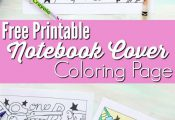 Back to School Notebook Cover - Printable Coloring Page -- This printable colori...