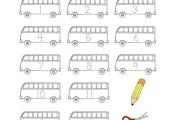 Back to School Number Practice Coloring Page - Twisty Noodle