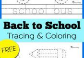 Back to School Tracing & Coloring Pages