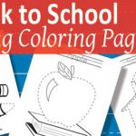 Back to School Tracing Coloring Pages {Free Printable} - Kids Activities Blog