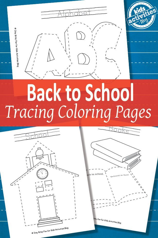 Back-to-School-Tracing-Coloring-Pages-Free-Printable Back to School Tracing Coloring Pages {Free Printable} Cartoon