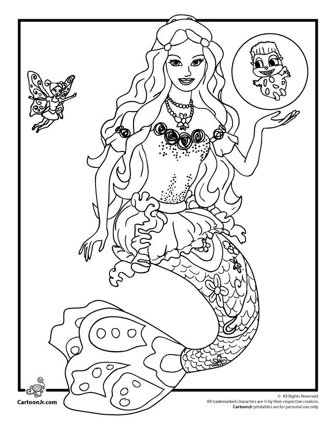 Barbie Coloring Pages Barbie Mermaidia Coloring Page – Cartoon Jr. Wallpaper