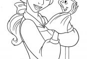 Belle And Cups Cartoon Coloring Pages