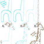 Big Guide to Drawing Cartoon Giraffes with Basic Shapes for Kids ....Follow for ...
