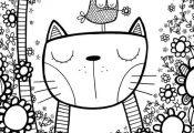 Birds Doodle, Cat Doodles, Cartoon Doodles, Cat Cartoon, Cartoon Birds, Kids Doo...