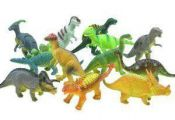 Bucket of a Dozen Jumbo Dinosaurs up to 6 inches long by Adventure Planet. $16.4...