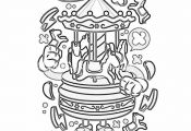 Cartoon Carousel Coloring Pages – GetColoringPages.org #coloring #coloringbook...