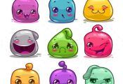 Cartoon Colorful Jelly Characters - Miscellaneous Game Assets | Download: graphi...