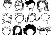 Cartoon Hair styles examples to try and draw for yourself #cartoondrawing #drawc...
