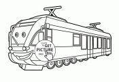 Cartoon Train coloring page for kids, transportation coloring pages printables f...