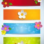Cartoon colorful banner vector