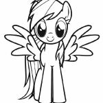 Cartoon coloring pages: MLP Rainbow Dash