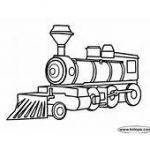 Coal Run Train Coloring Page