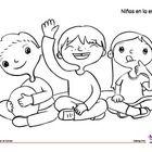 Coloring Page: Back to School: Circle Time  Monarca Language www.monarcalangua.....