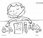 Coloring Page: Back to School: My Supplies product from Monarca-Language on Teac...