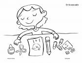 Coloring-Page-Back-to-School-My-Supplies-product-from-Monarca-Language-on-Teac Coloring Page: Back to School: My Supplies product from Monarca-Language on Teac... Cartoon