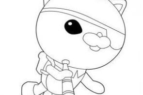 ... Coloring Page: Kwazii from The Octonauts Exploring the Sea Coloring