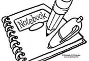 Coloring Page Tuesday - Back To School Supplies