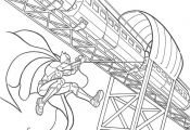 Coloring page : Batman and train