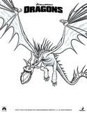 Coloring page How to train your dragon
