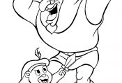 Cubbi and Igthorn Gummi bears cartoon coloring pages for kids, printable free